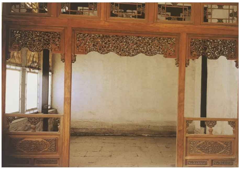 四合院内檐裝修之几腿罩、落地罩、落地花罩