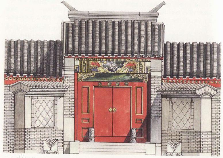 老北京四合院的详细资料—宅门之广亮大门1